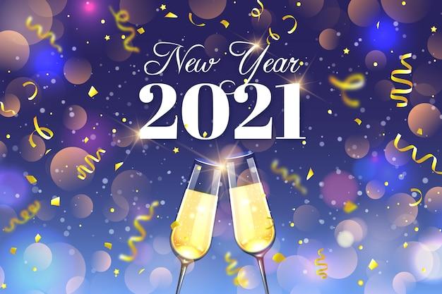 Wazig nieuwjaar 2021 concept