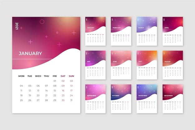Wazig nieuwjaar 2021 kalender