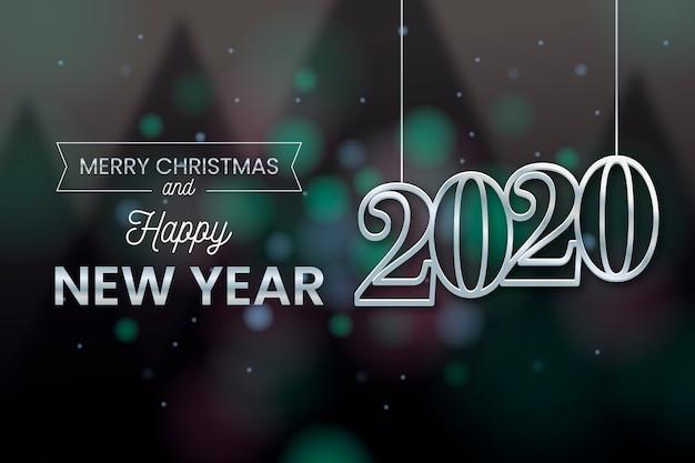 Wazig nieuwjaar achtergrond