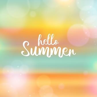 Wazig ontwerp hallo zomer