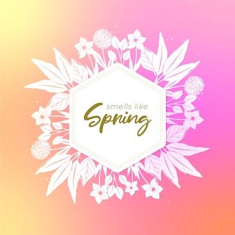 Wazig ontwerp lente achtergrond