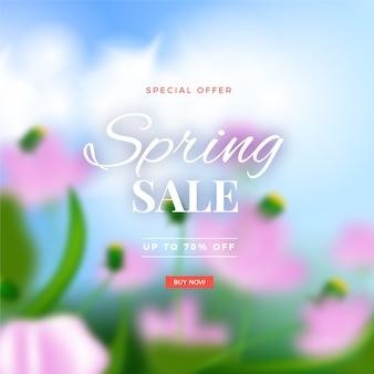 Wazig ontwerp voor lente verkoop