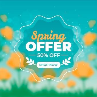 Wazig seizoensgebonden lente verkoop ontwerp
