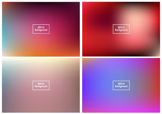 Wazig set abstracte achtergrond kleurrijke verloopnet eps10 vector 3
