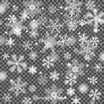 Wazig sneeuwvlokken