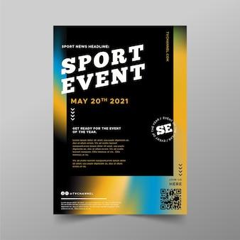 Wazig sportevenement poster sjabloon