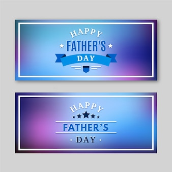Wazig vaders dag banners sjabloon