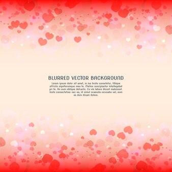 Wazig valentijnsdag achtergrond harten