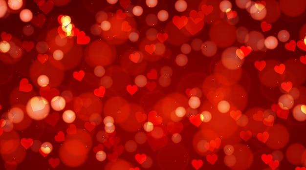 Wazig valentijnsdag achtergrond Gratis Vector