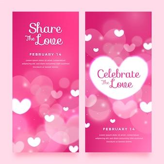 Wazig valentijnsdag banners collectie