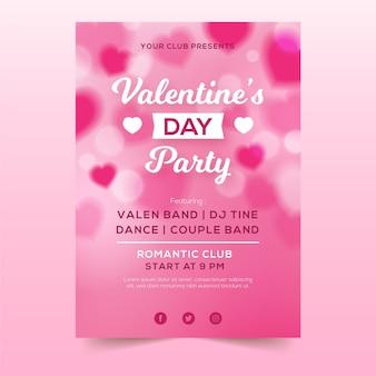 Wazig valentijnsdag folder sjabloon