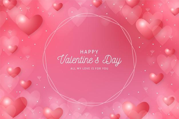 Wazig valentijnsdag roze achtergrond