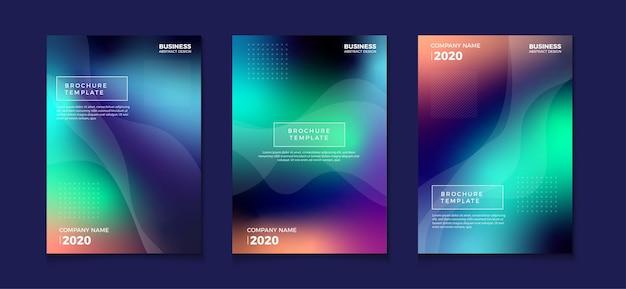 Wazig verloop abstracte boekomslag flyer ontwerpen