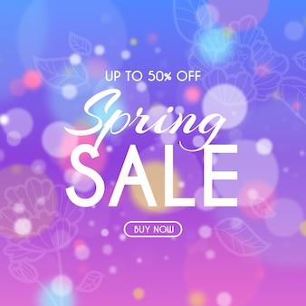 Wazig voorjaar verkoop vierkante banner