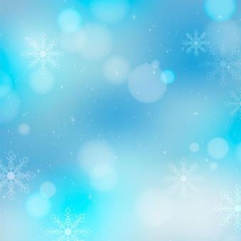 Wazig winter achtergrond Gratis Vector
