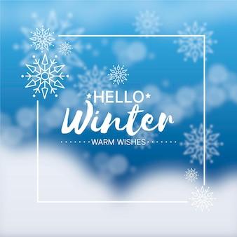 Wazig winter achtergrond Premium Vector