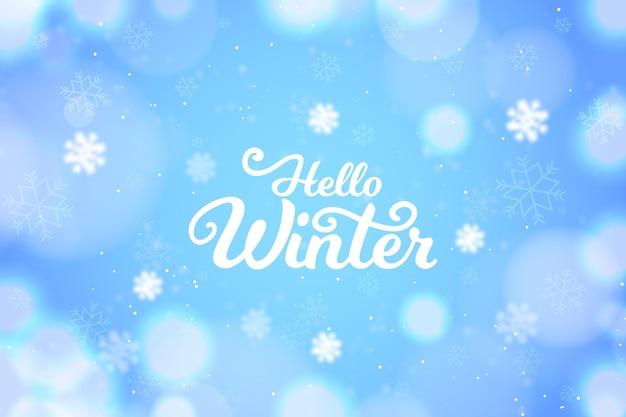 Wazig winter achtergrond