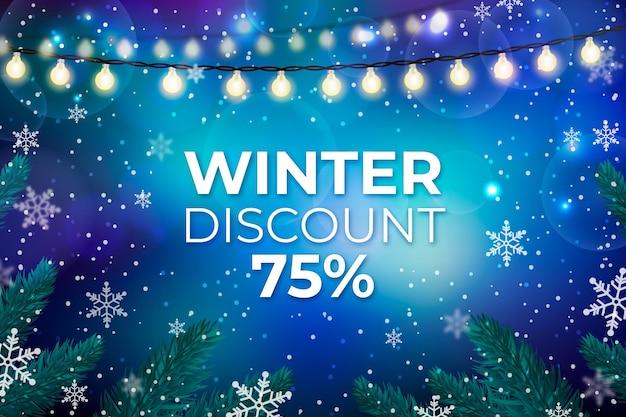 Wazig winter verkoop achtergrond Premium Vector