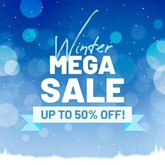 Wazig winter verkoop banner concept