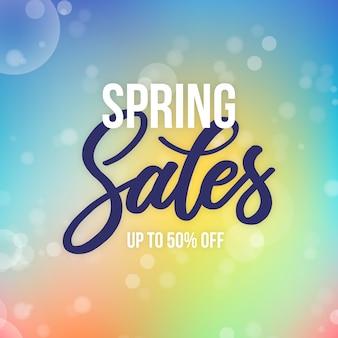 Wazige stijl lente verkoop