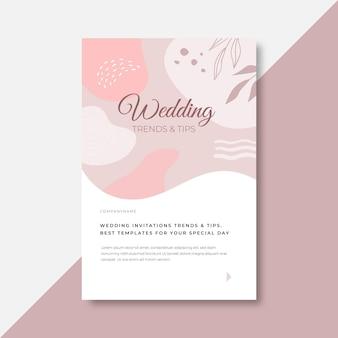 We gaan een bloemenhuwelijksuitnodiging trouwen
