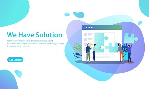 We hebben oplossing vector illustratie concept
