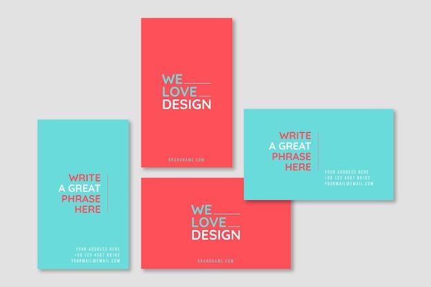 We houden van ontwerpsjabloon voor minimale visitekaartjes