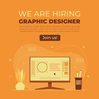 We huren een grafisch ontwerperconcept in