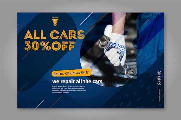 We repareren alle auto's mechanische banner