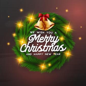 We wensen je een prettige kerstachtergrond