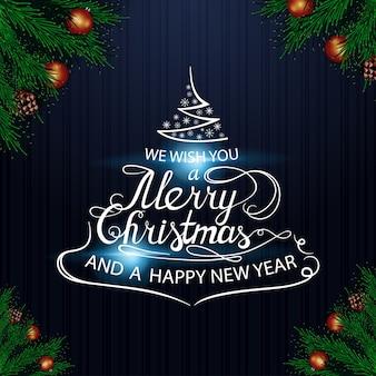 We wensen je fijne kerstdagen en een gelukkig nieuwjaar. belettering