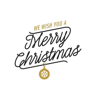 We wish you merry christmas lettering
