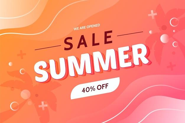 We zijn geopend verkoop zomer achtergrond