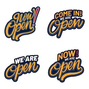 We zijn open bordenset