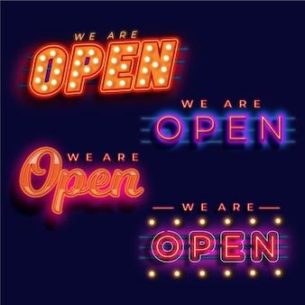 We zijn open neonreclameset