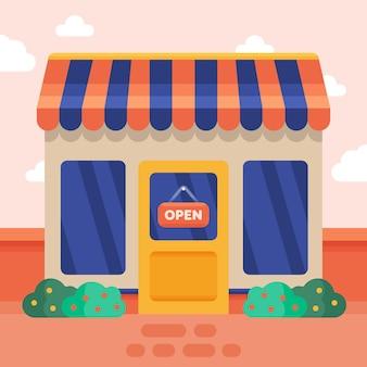 We zijn open teken voor winkel