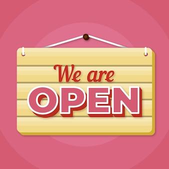 We zijn open teken