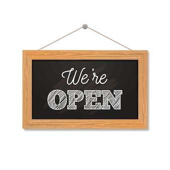 We zijn open tekenconcept
