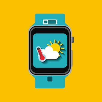 Wearable technologieontwerp, vector grafische illustratie eps10