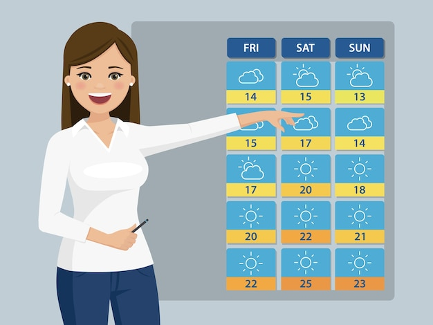 Weatherwoman glimlachen