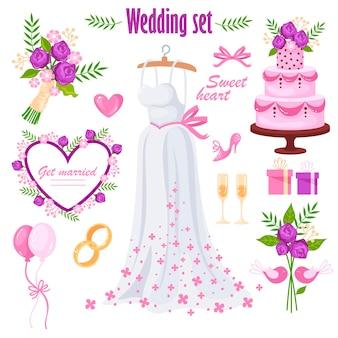 Weautiful bruiloft set.