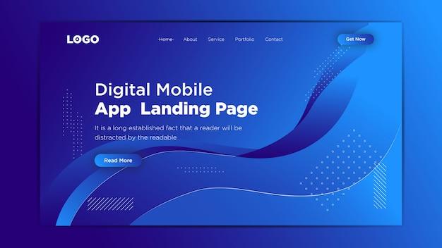 Web-abstract-achtergrond-met-blauwe-vloeistof-vorm