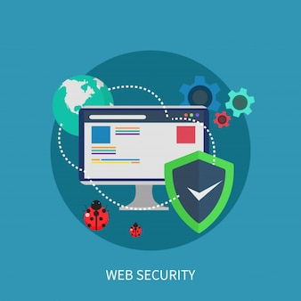 Web beveiliging ontwerpconcept