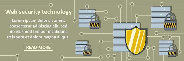 Web beveiliging technologie banner horizontaal concept