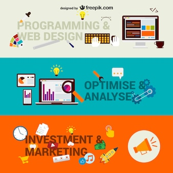 Web business stappen vector
