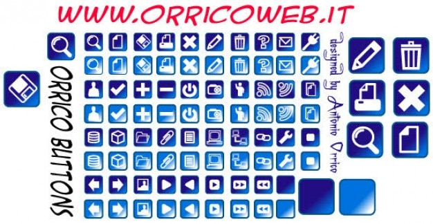 Web buttons gratis vector