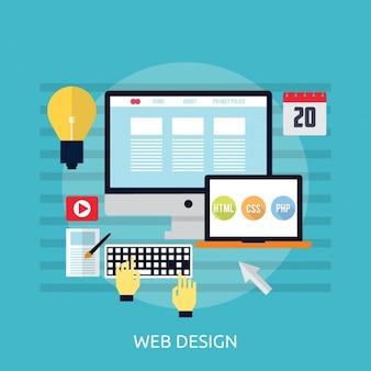 Web design achtergrond