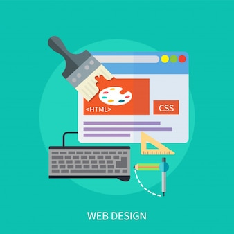 Web design design concept