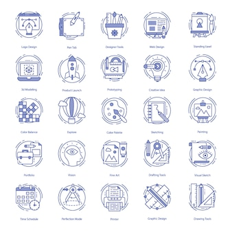 Web design icons pack