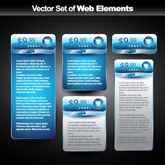 Web elementen met ruimte voor tekst